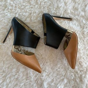 Same Edelman stiletto black tan heels size 6
